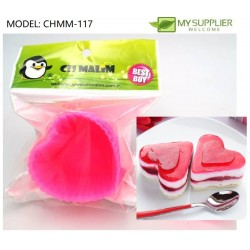 6pcs heart shape jelly mould 6cm