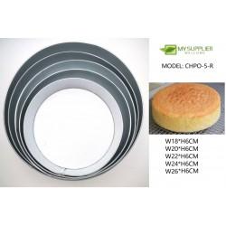 5pcs loyang round mould W18-26xH6CM