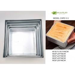 5pcs loyang square cake plate w18-26xh6cm
