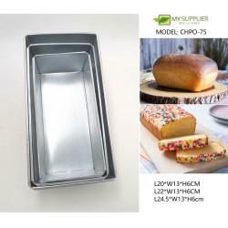 3pcs Loyang Bread Loaf Mould L20/22/24.5cm x W13 x H6cm