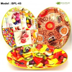 (88333/8829/88337)Oval Plastic Custom Design Fruit Plate+-L33.5*W25*H6cm