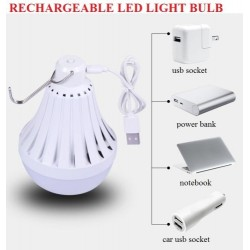 7.8cm*12.2cm 12W rechargeable light bulb with hook