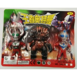 8cm 2pcs ultraman + 1 monster set (288)PCS/BOX