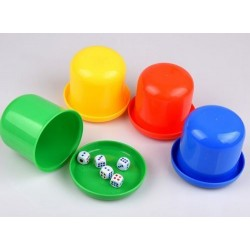 toy dice cup+ 5pcs dice D9*H7cm