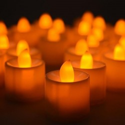 LED orange candles w3.5*h3cm