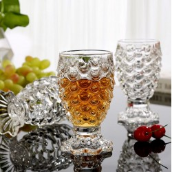 Glass cup with scale pattern h11*w6.5cm (minimum order 4pcs/box)