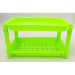 2 Tier Plastic Rack L25cm*W15cm*H13cm