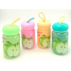 glass bottle-apple
