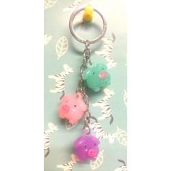 3pcs Piggy Key Chain