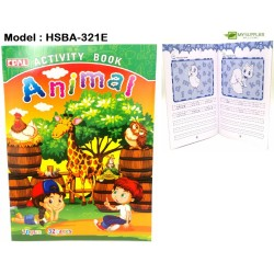 321E 32pages activity book (animal)