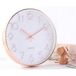 29cm rose gold round clock(warranty 1 year)