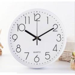 29cm white round clock(warranty 1 year)