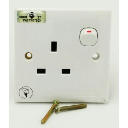 13a single switch socket(wh)