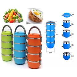 four layers of stainless steel lunch box