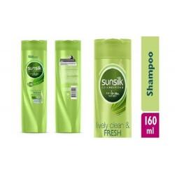 160ml sunsilk shampoo lively clean fresh-green