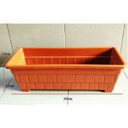 3373 rectangle flower pot L48cm*W19cm*H17cm
