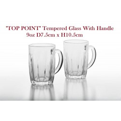 no.z2160(tp) tempered glass with handle 9oz