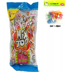 10IN1 mix top lollipops mixed fruit and sour