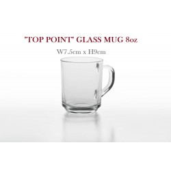 no.z2108(tp) tempered glass with handle 8oz