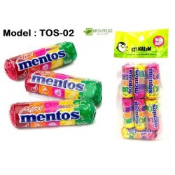 10g 7in1 Mini Mentos Candy-Rainbow