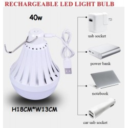 40w rechargeable light bulb with hook 18cm±*13cm±