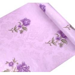 45cm*10meter purple flower wallpaper