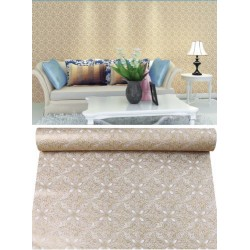 white flowers pattern gold wallpaper 45cm*10meter