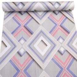9168 Blue Pink rhombus wallpaper 45cm*10meter