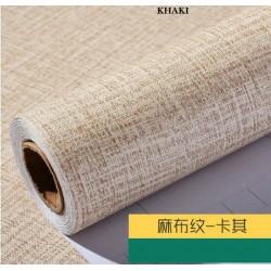 9181 burlap khaki wallpaper 45cm*10meter