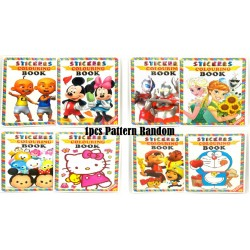 16page cartoon colouring & sticker book
