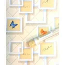 9149 photo frame butterfly wallpaper 45cm*10meter