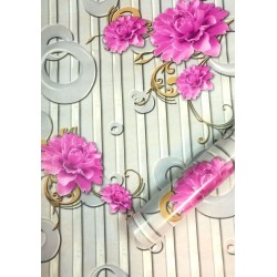 9173 Stereo Pink Peony Wallpaper L10meter*W45cm