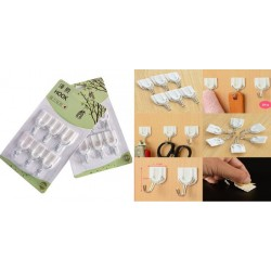 6pcs white hook 2.5*5cm