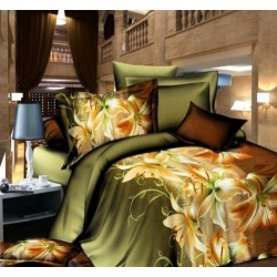 3d lily 4in1 king size double bedsheet set