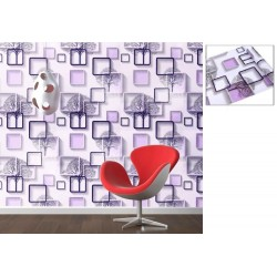 9113 3D Box Purple tree wallpaper 45cm*10meter