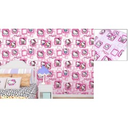 9137 pink frame kitty wallpaper 45cm*10meter