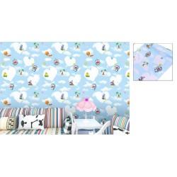 9135 Flying beach doraemon wall paper 45cm*10meter