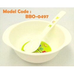 0947 bowl(w11.5*5cm) and spoon(14cm) for kid