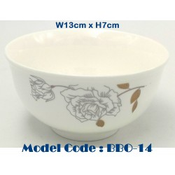 5inch Round Ceramic Bowl-Black Gold Flower W13cm*H7cm