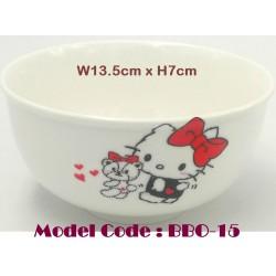 5inch round ceramic bowl-kitty W13.5cm*H7cm