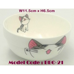 4.5inch ceramic bowl-cat W11.5cm x H6.5cm