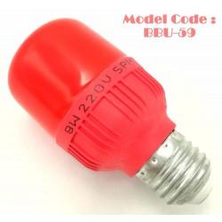 9w red bulb L10cm*W4.5cm