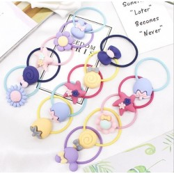 8pcs child rubber band hair rope