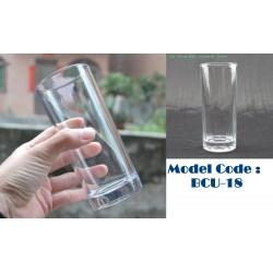 glass cup W6.5cm*H15cm