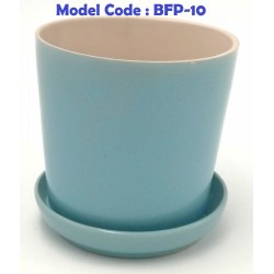 Ceramic flower pot with tray h9*w9cm