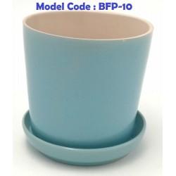 Ceramic Flower Pot With Tray D9cm x H9cm