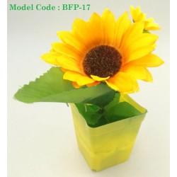 123-1 Plastic Artificial Flower With Pot Home Office L6cm*W6cm*H18cm
