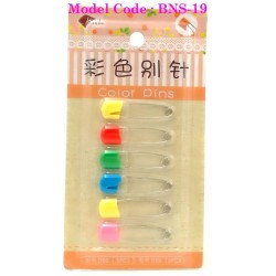 d06 6pcs colour child safety pin L4cm*W1cm