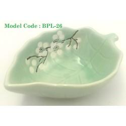 leaf pattern glass plate l11cm*w8cm*h5cm