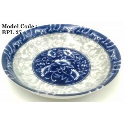 7inch ceramic plate-Blue and white porcelain W18cm*H4.5cm